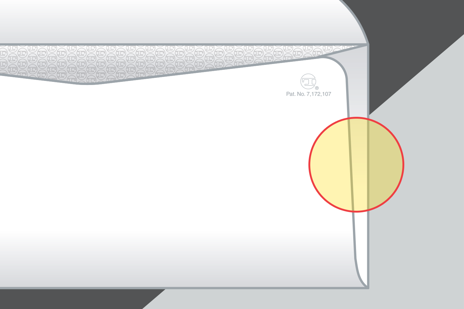 Side-seam overlap profiles designed to glide through USPS's automated equipment