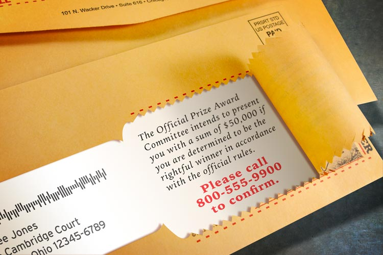 Highlights variable data that is printed on the direct mail insert