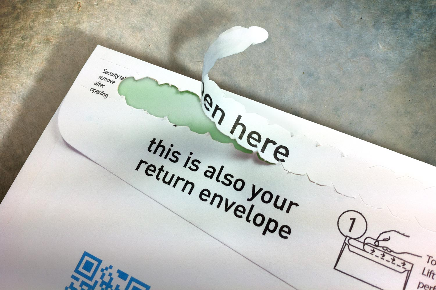 This simple strip gets your envelope opened fast and easily