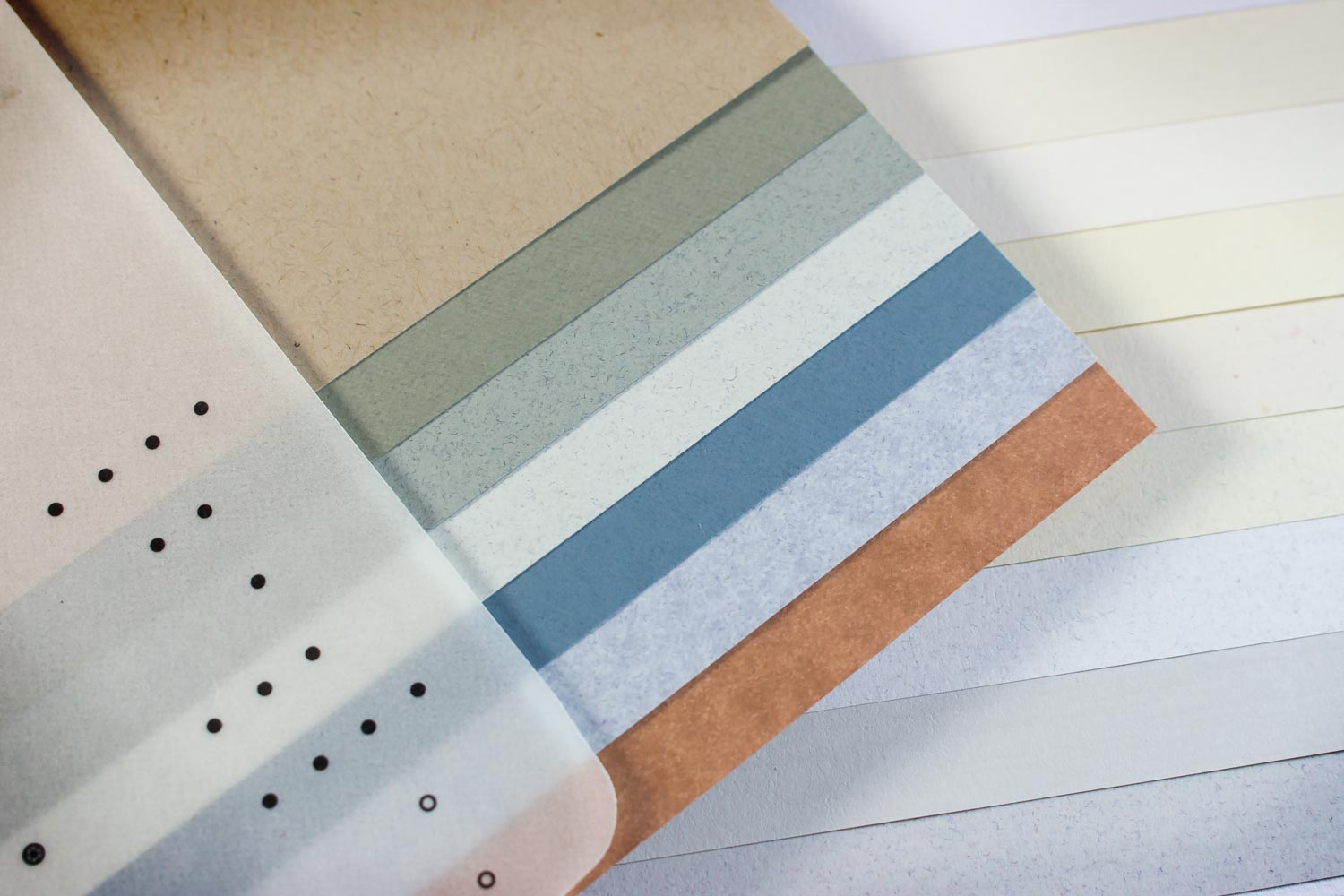 Paper options include white wove, colored wove and coated stocks