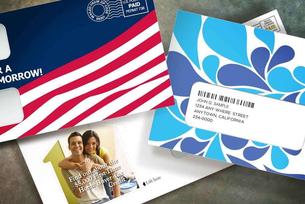 Your envelope design is one of a kind, developed with your brand image in mind. The designs are yours to keep